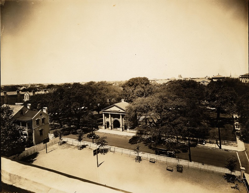 Porter's Lodge and playground of Bennett School, circa 1930s.