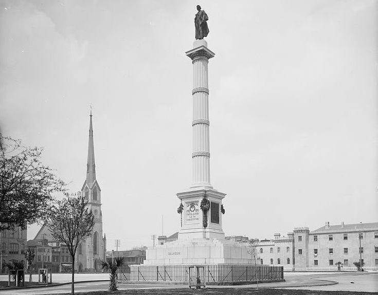 John C. Calhoun Monument, circa 1900