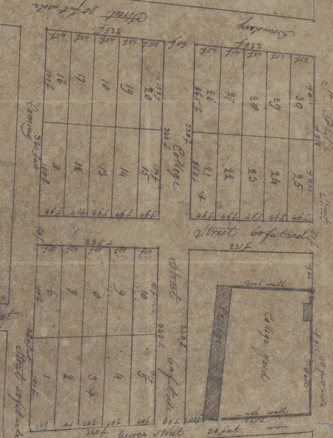 Circa 1801 Plat of College Lands
